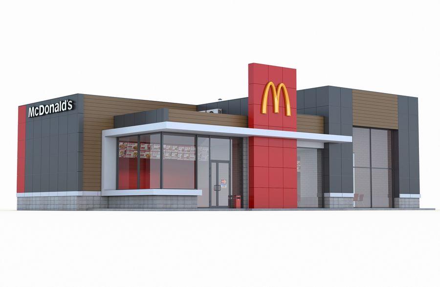 McDonalds restaurant 2 royalty-free 3d model - Preview no. 1