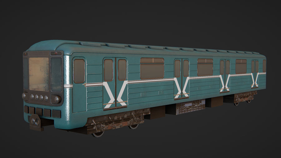 Moscow subway train royalty-free 3d model - Preview no. 1