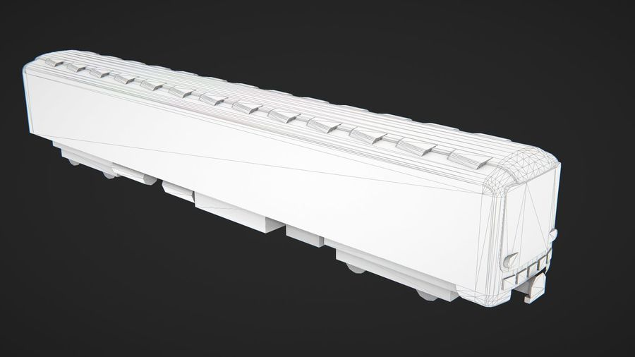 Moscow subway train royalty-free 3d model - Preview no. 8