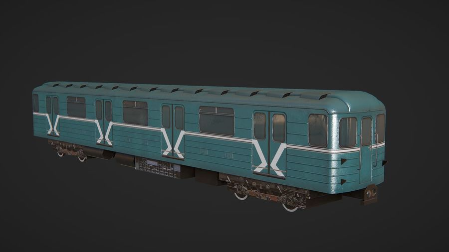Moscow subway train royalty-free 3d model - Preview no. 5
