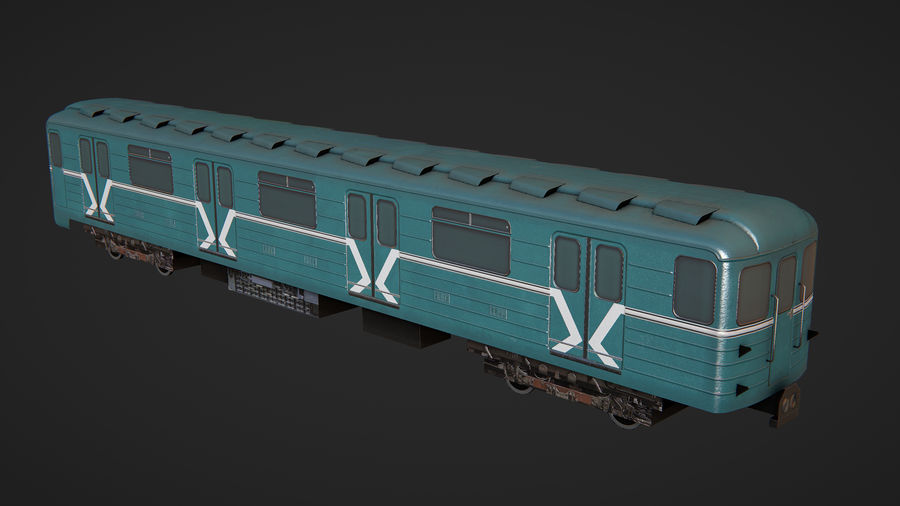 Moscow subway train royalty-free 3d model - Preview no. 2