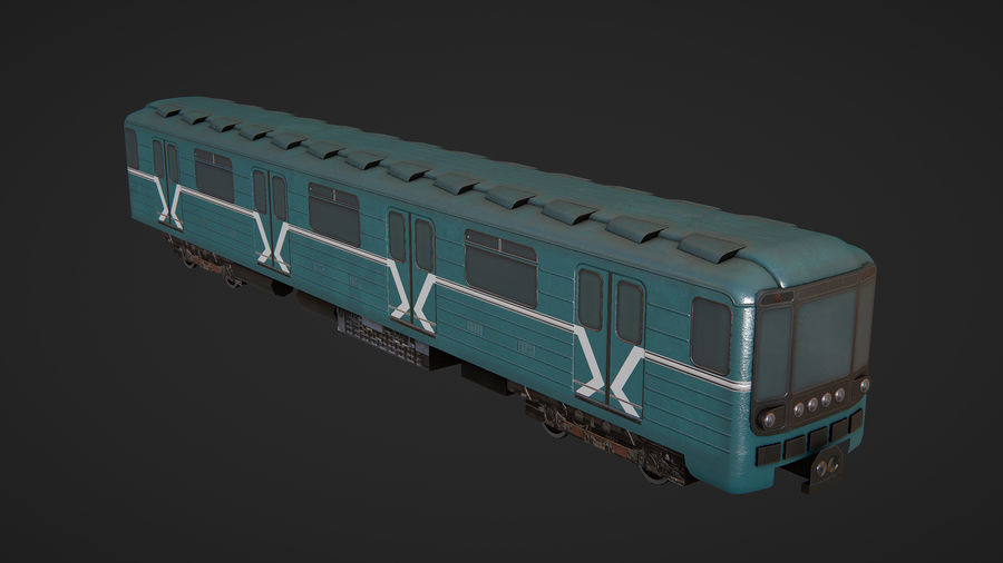 Moscow subway train royalty-free 3d model - Preview no. 4