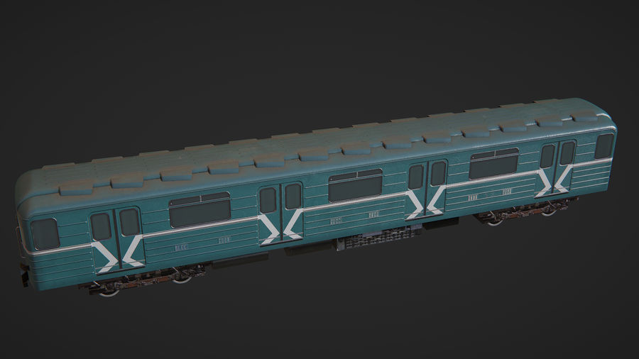 Moscow subway train royalty-free 3d model - Preview no. 6