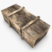 Drewniane pudełko 02 (kolor 2) 3d model