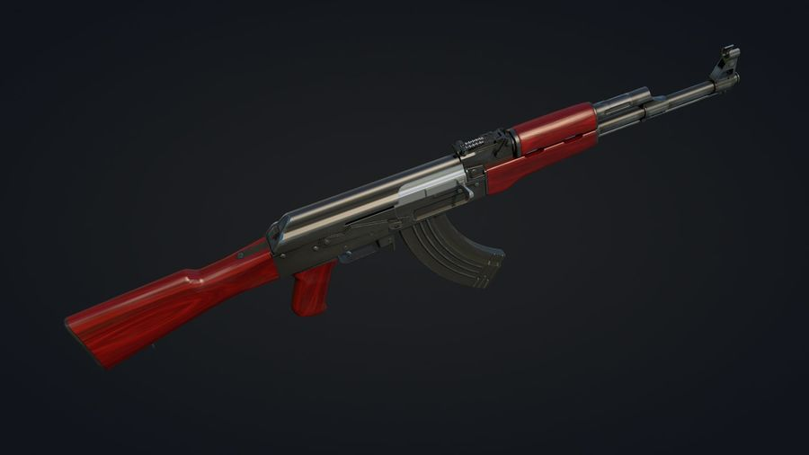 AK-47 Jeu prêt royalty-free 3d model - Preview no. 6