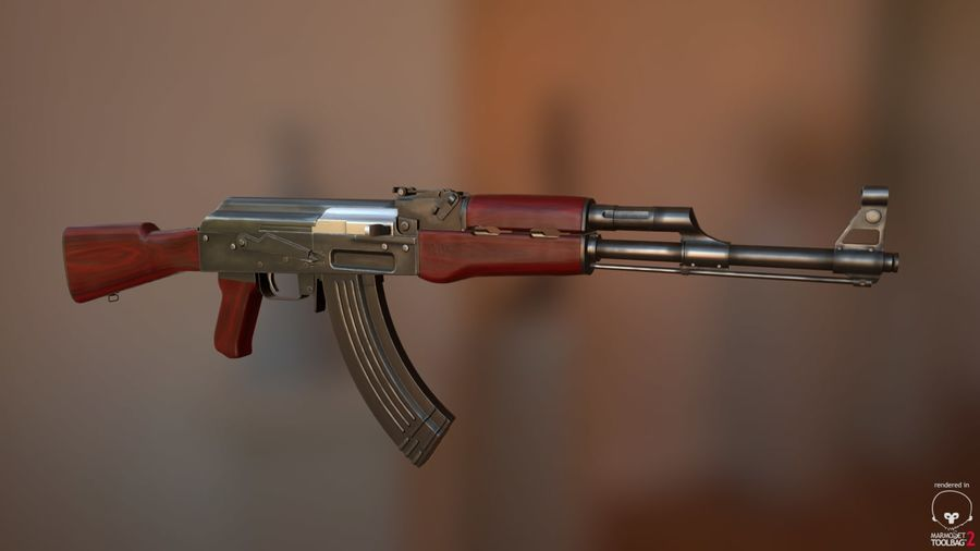 AK-47 Jeu prêt royalty-free 3d model - Preview no. 1