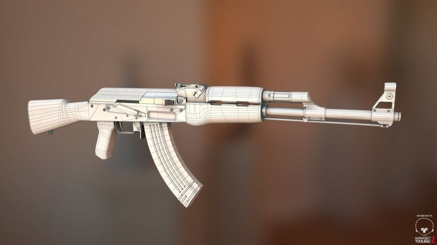 AK-47 Jeu prêt royalty-free 3d model - Preview no. 3