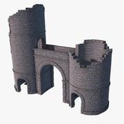 Castle Gate Ruins 3d model