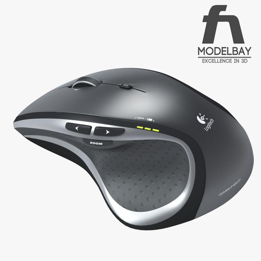 罗技无线鼠标MX royalty-free 3d model - Preview no. 2