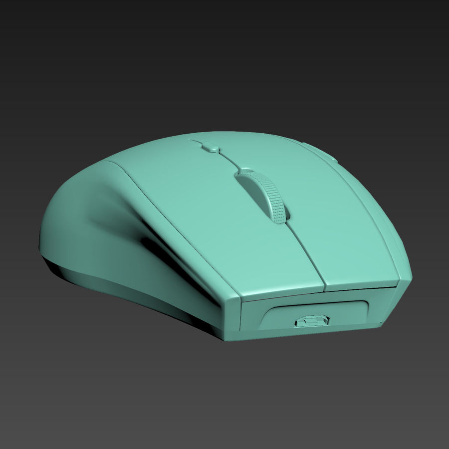罗技无线鼠标MX royalty-free 3d model - Preview no. 13