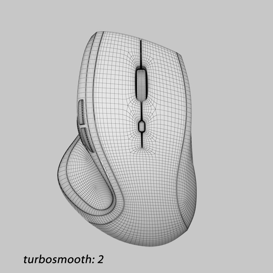 罗技无线鼠标MX royalty-free 3d model - Preview no. 9