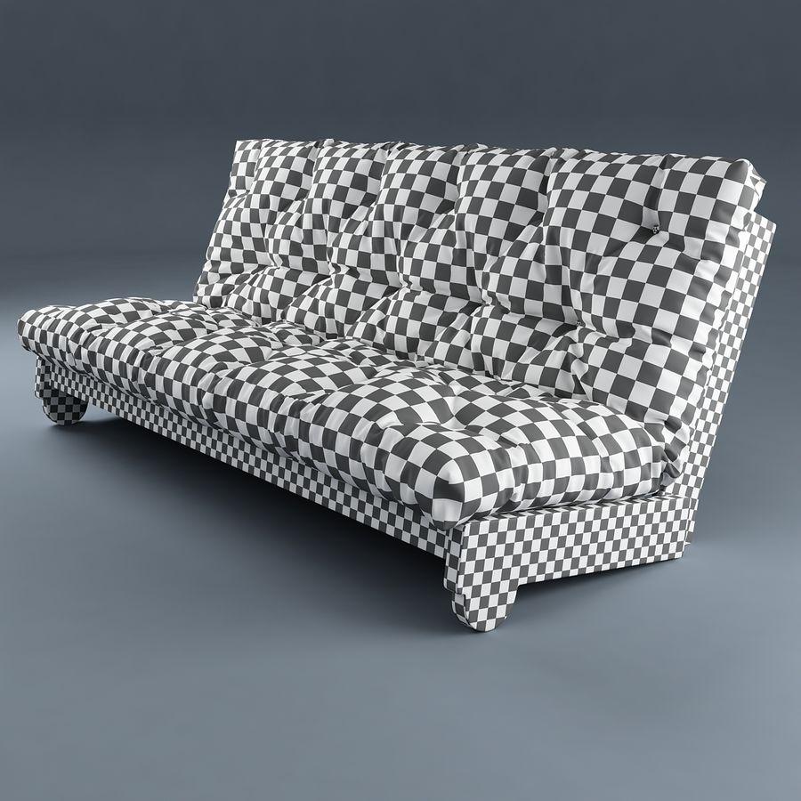 Sofa Ikea Futon royalty-free 3d model - Preview no. 2