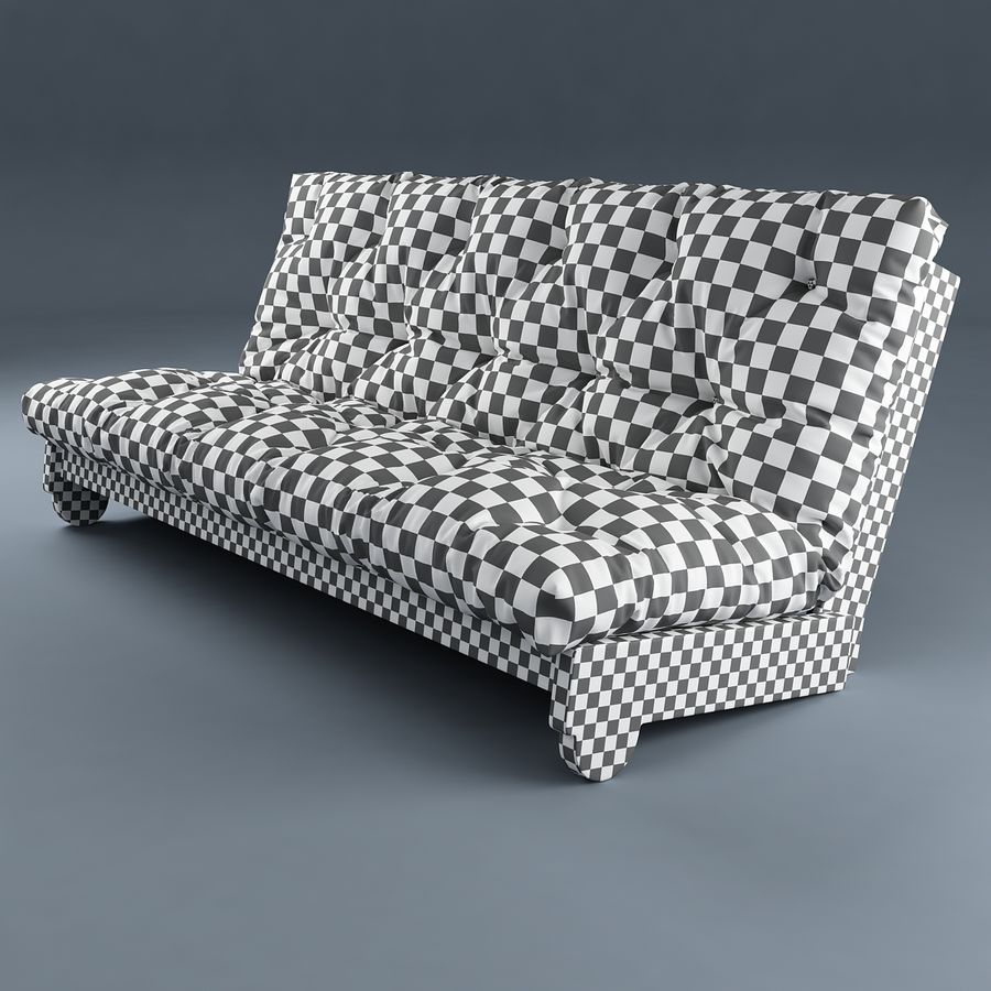 Sofa Ikea Futon royalty-free 3d model - Preview no. 2