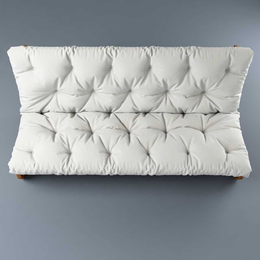 Sofa Ikea Futon royalty-free 3d model - Preview no. 5