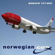 737 norueguês 3d model