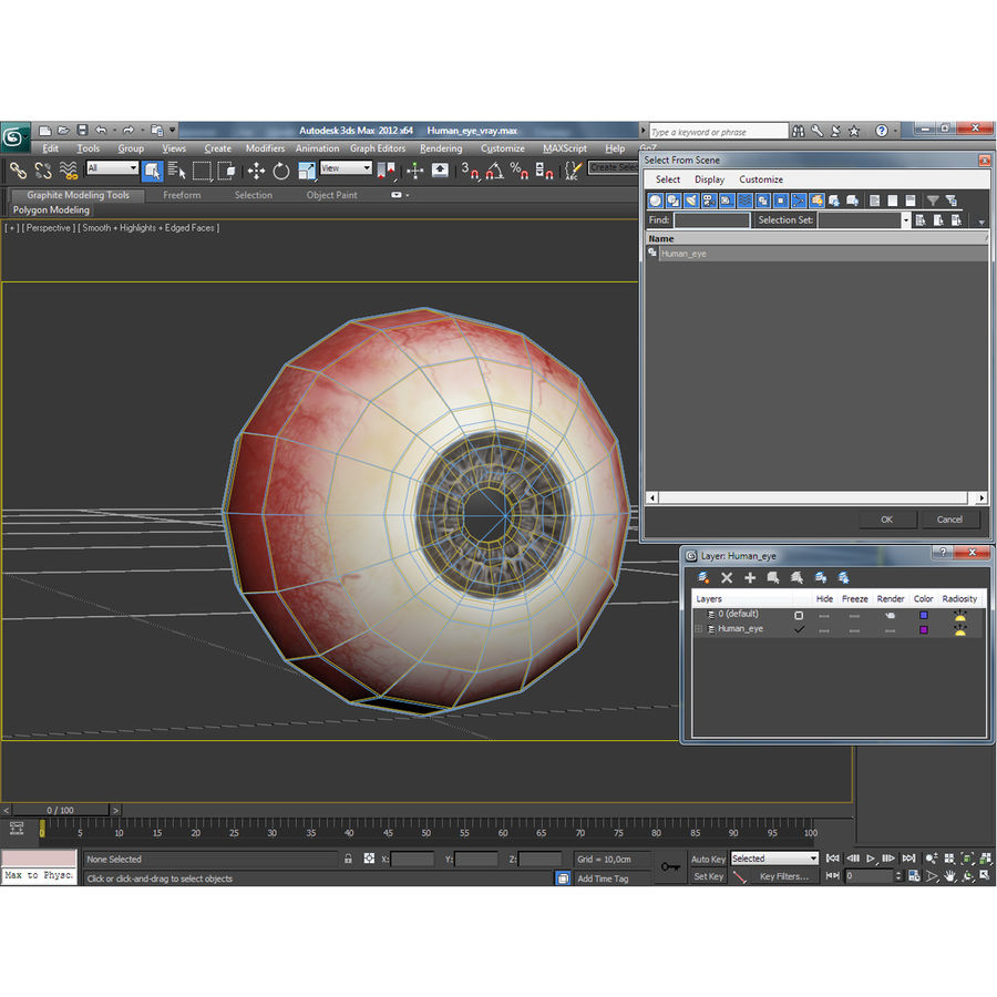 Human Eye royalty-free 3d model - Preview no. 19