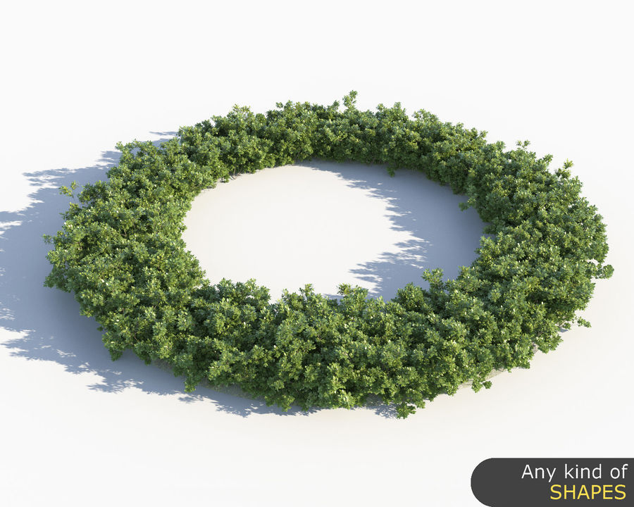 Scatterable Shrubs royalty-free 3d model - Preview no. 8