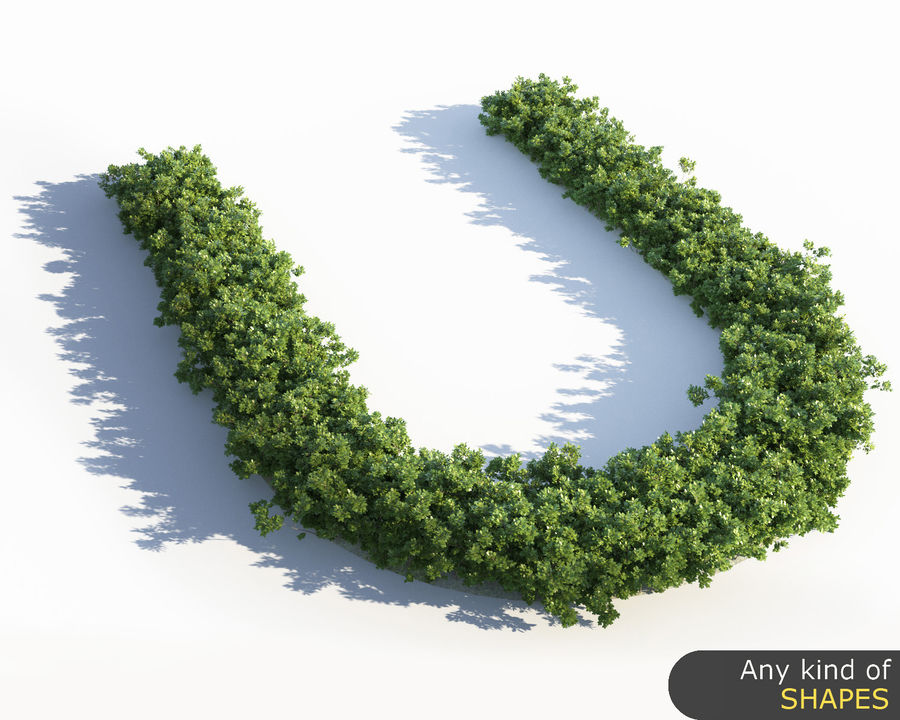 Scatterable Shrubs royalty-free 3d model - Preview no. 7