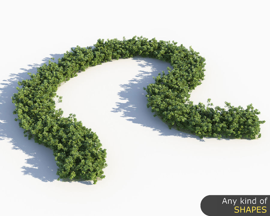 Scatterable Shrubs royalty-free 3d model - Preview no. 9