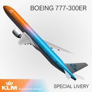 777 KLM Special Livery 3d model