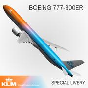 777 KLM Special Livery 3d model