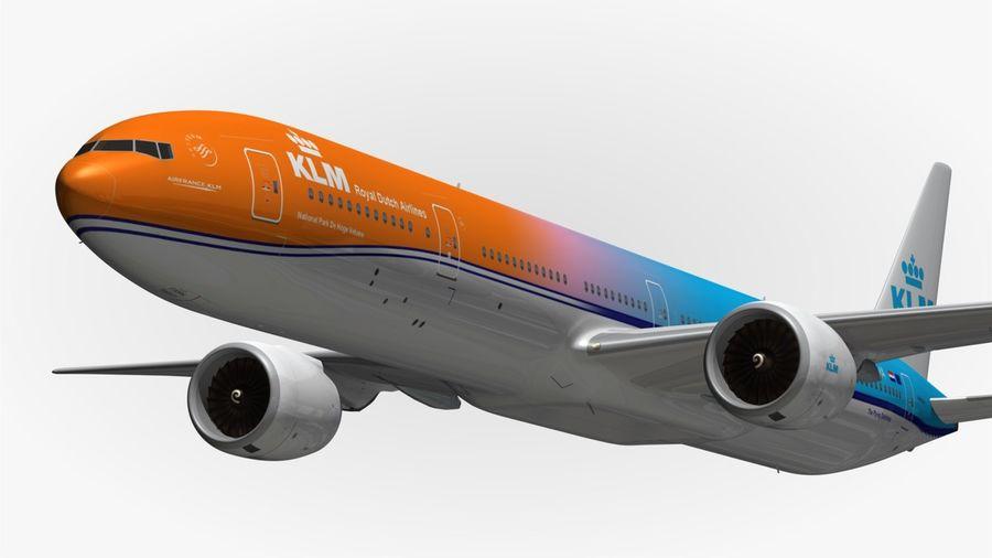777 KLM Special Livery 3D Model $47 -  obj  max  fbx  blend