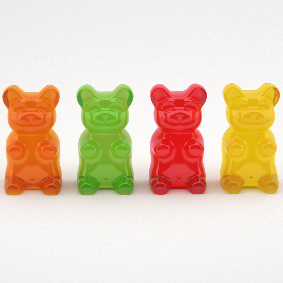 Gummy Bears royalty-free 3d model - Preview no. 8