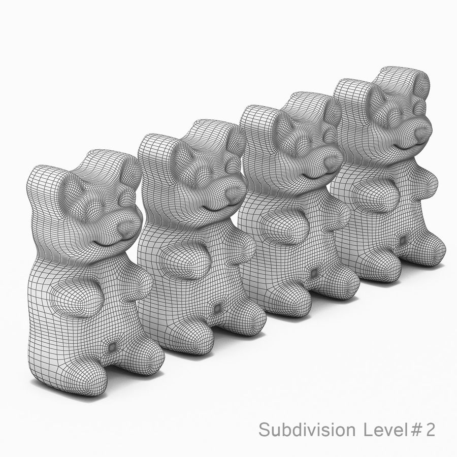Gummy Bears royalty-free 3d model - Preview no. 5