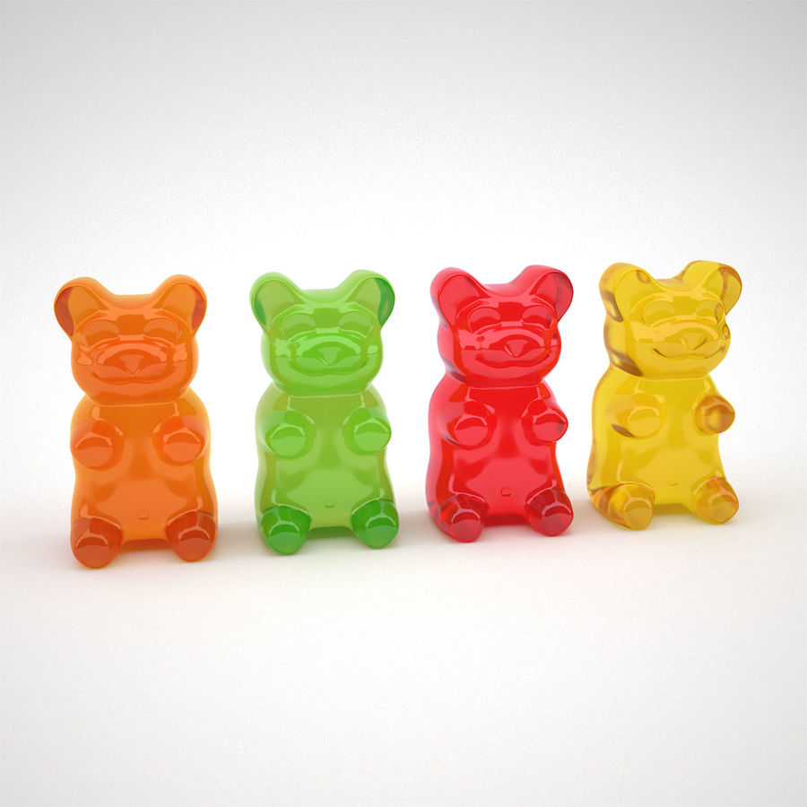 Gummy Bears royalty-free 3d model - Preview no. 6