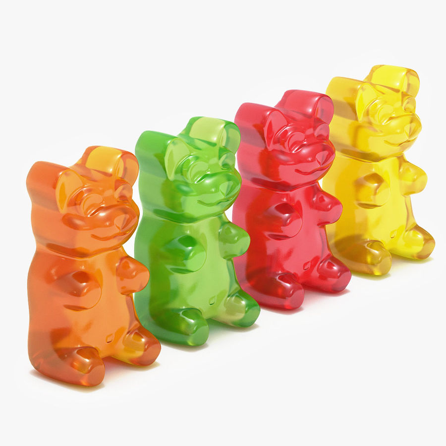 Gummy Bears royalty-free 3d model - Preview no. 1
