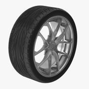 자동차 타이어와 림 3d model
