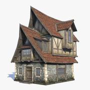 Fantasy House 07 (2 w 1) 3d model