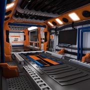 공상 과학 - 차고 3d model