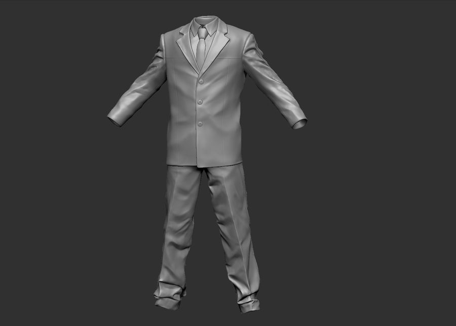 Man kostym royalty-free 3d model - Preview no. 5