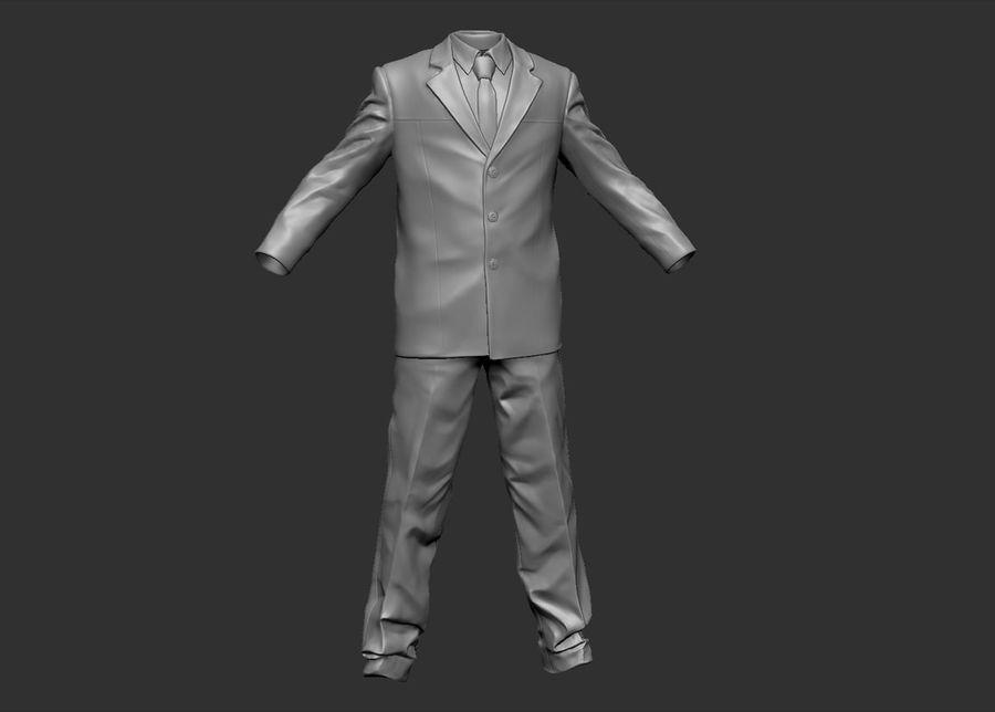 Man kostym royalty-free 3d model - Preview no. 6