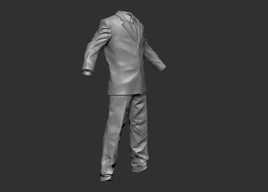 Man kostym royalty-free 3d model - Preview no. 7