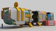 Cargo spaceship 3d model