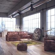 ロフトインテリアアパートメント 3d model