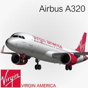 A320 Virgin America modelo 3d