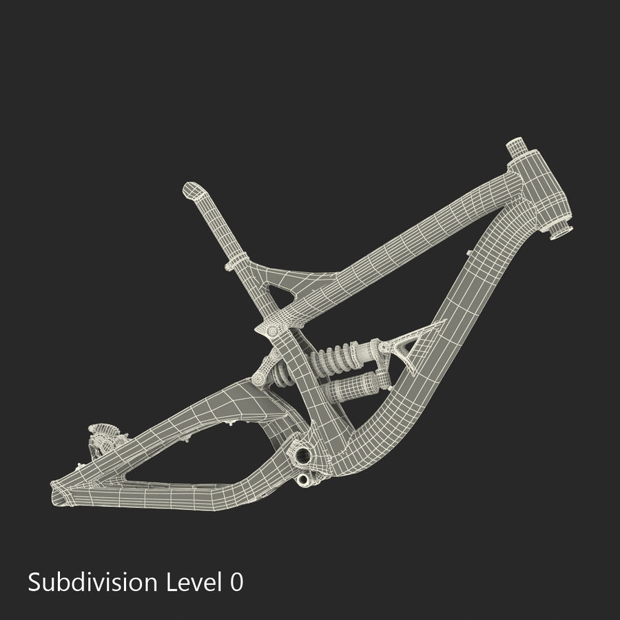 マウンテンバイクフレーム royalty-free 3d model - Preview no. 24