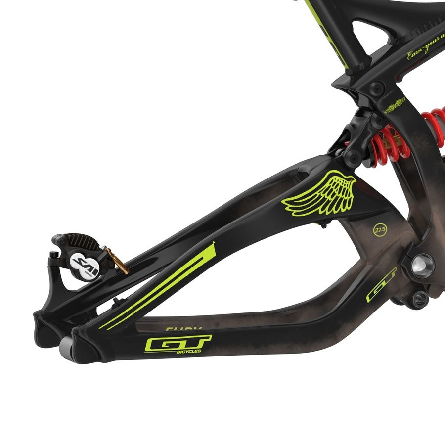 Mountain Bike Frame royalty-free 3d model - Preview no. 22