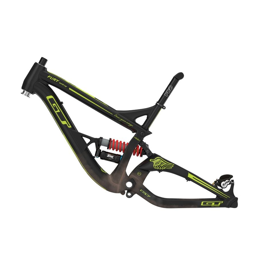 Mountain Bike Frame royalty-free 3d model - Preview no. 4