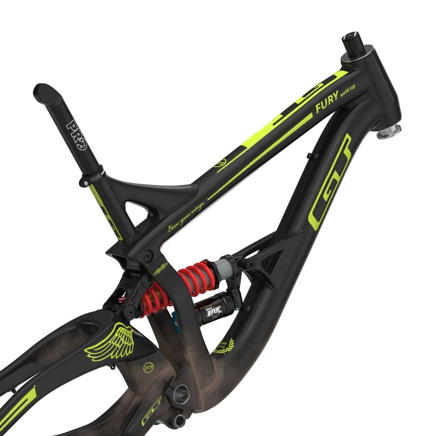 Mountain Bike Frame royalty-free 3d model - Preview no. 12
