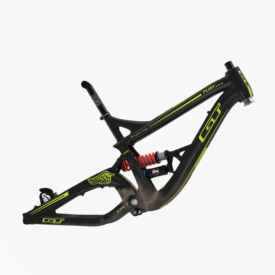Mountain Bike Frame royalty-free 3d model - Preview no. 1
