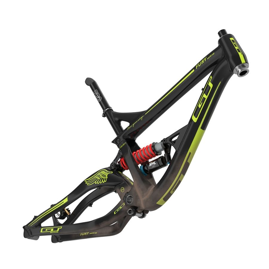Mountain Bike Frame royalty-free 3d model - Preview no. 5