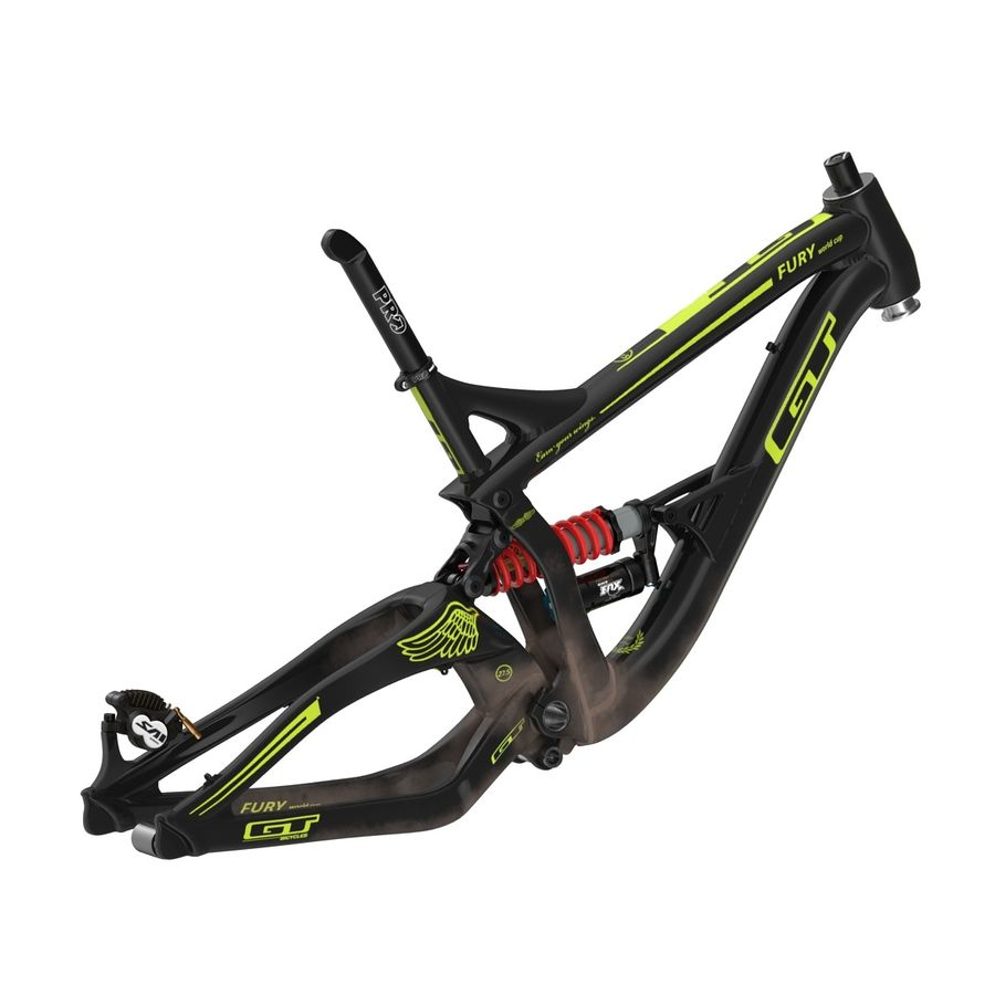 Mountain Bike Frame royalty-free 3d model - Preview no. 6