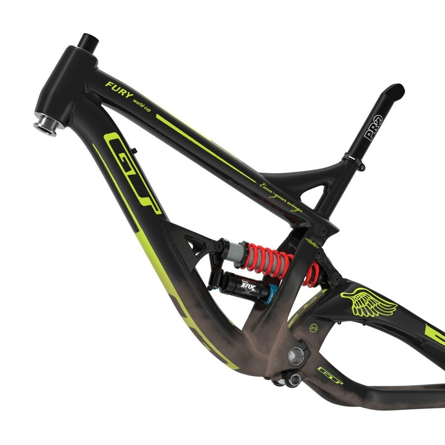 Mountain Bike Frame royalty-free 3d model - Preview no. 11