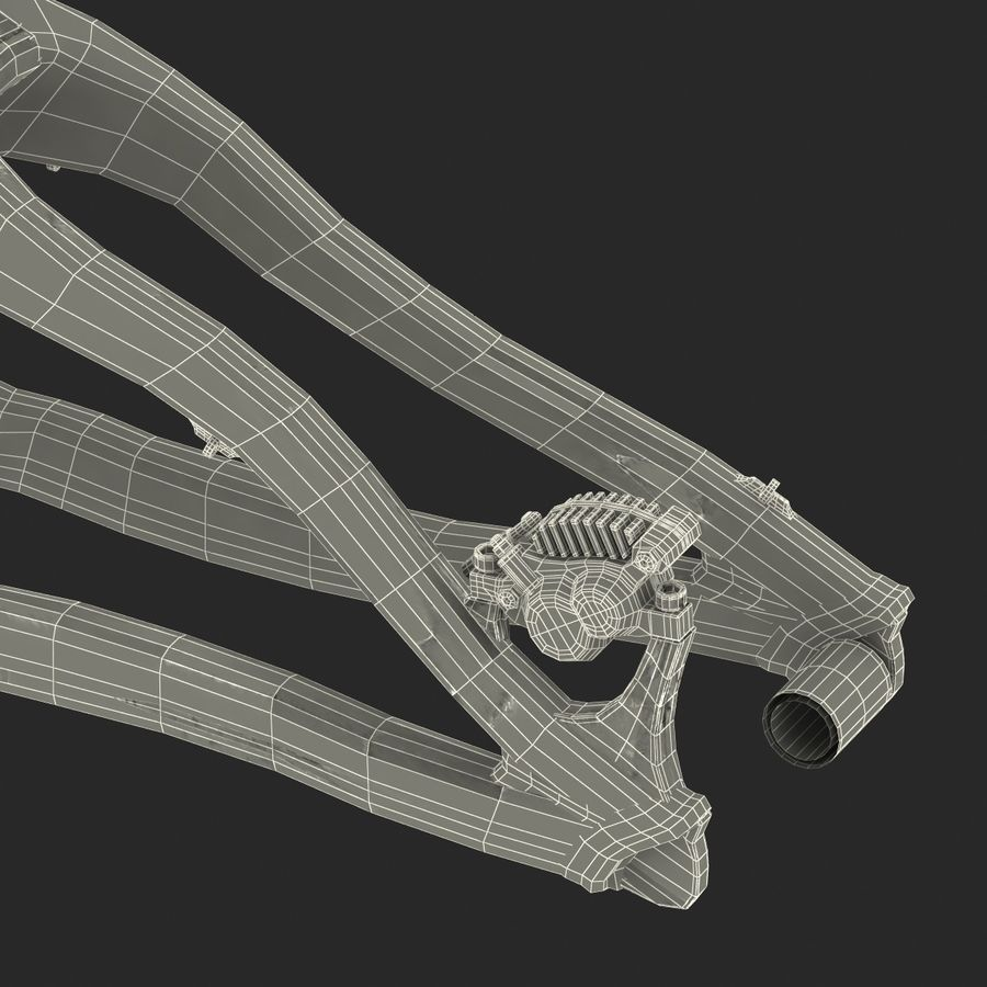 Mountain Bike Frame royalty-free 3d model - Preview no. 51