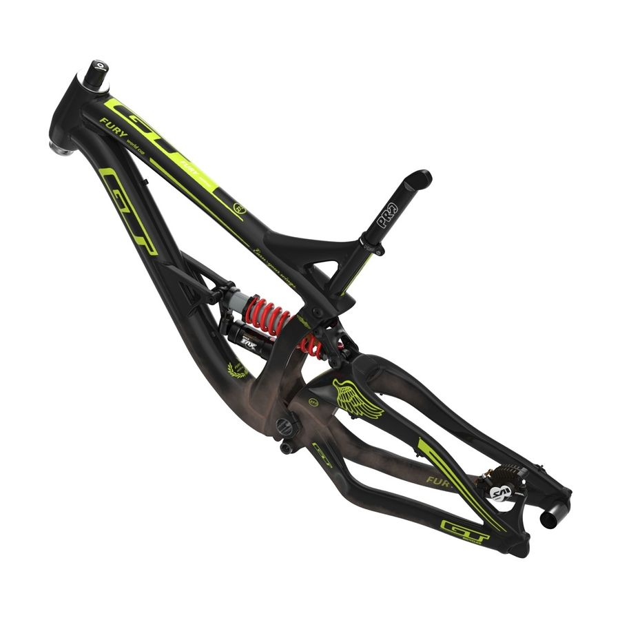Mountain Bike Frame royalty-free 3d model - Preview no. 7