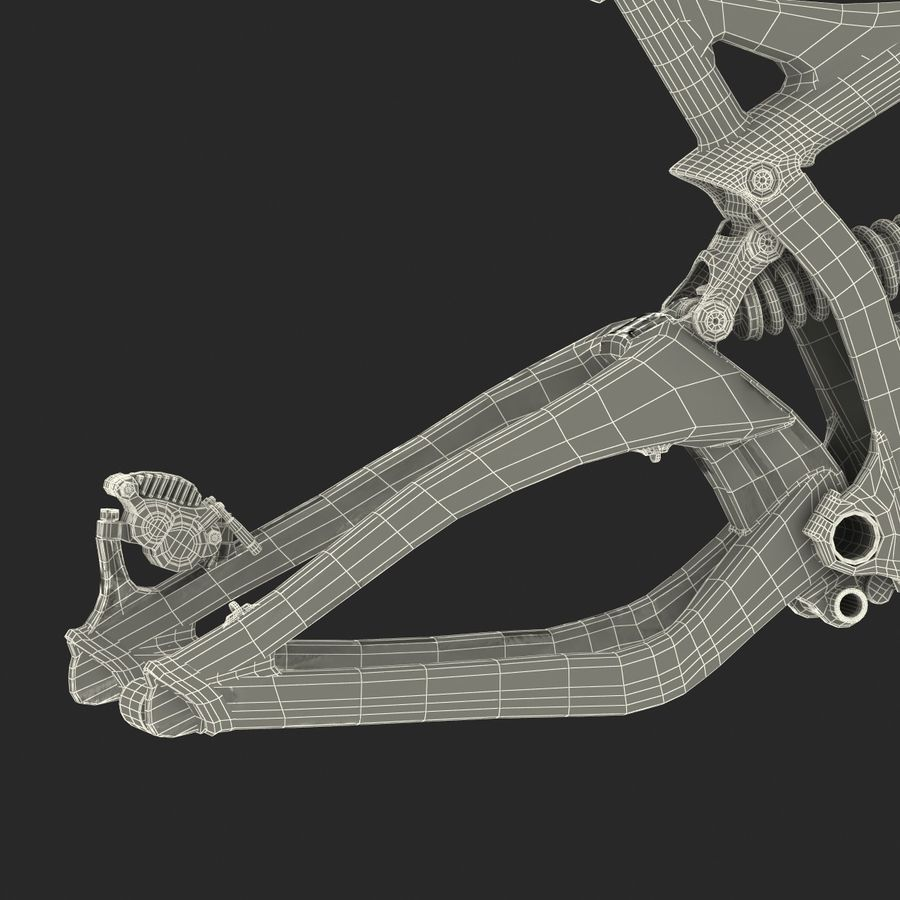 Mountain Bike Frame royalty-free 3d model - Preview no. 50